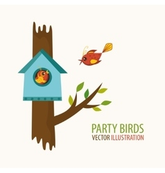 Party birds vector
