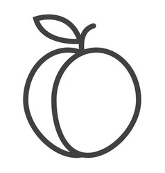 Peach line icon fruit and diet graphics vector