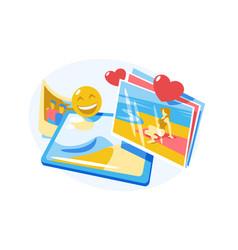 photos in photograph album vector image