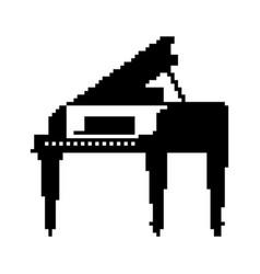 Piano pixel art 8 bit musical instrument vector