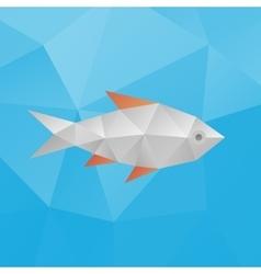 Polygonal fish vector