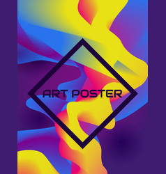 poster with colorful abstract background vector image