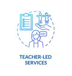 Preschool counselor services concept icon vector