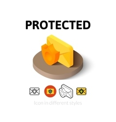 Protected icon in different style vector image