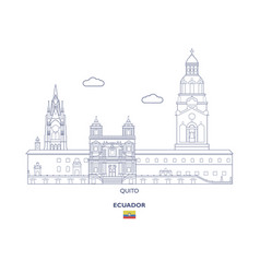 quito city skyline vector image