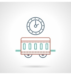 Railway station flat color line icon vector image