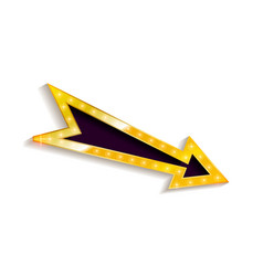 realistic 3d arrow with electric bulbs vector image