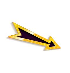 Realistic 3d arrow with electric bulbs vector