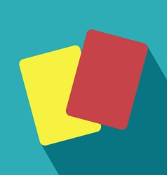 Red and Yellow Card Icon vector image vector image