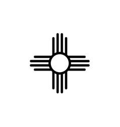 religion symbol native american sun icon element vector image