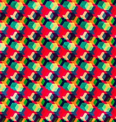 retro colored rhombus seamless pattern vector image