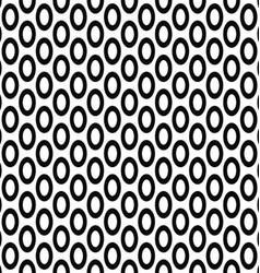 Seamless monochrome ellipse pattern background vector
