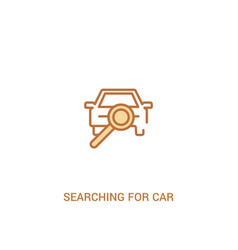 Searching for car concept 2 colored icon simple vector