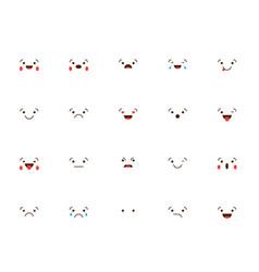 set emoticons stickers emoji vector image