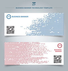 set template abstract technology digital data vector image