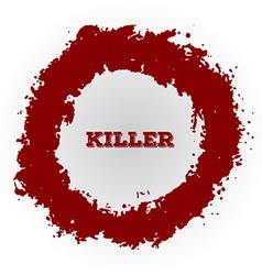 Shotgun hole bullet red hole blood splatters vector