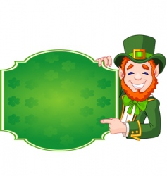 St Patrick's day lucky leprechaun vector image