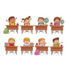 Students kids cartoon vector