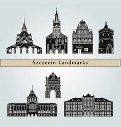 szczecin landmarks vector image