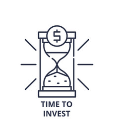 time to invest line icon concept time to invest vector image