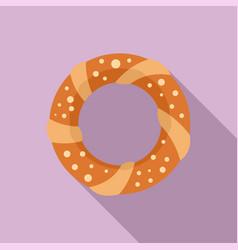 Turkish bagel icon flat style vector