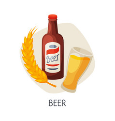 Unhealthy food for brain beer low alcohol drink vector