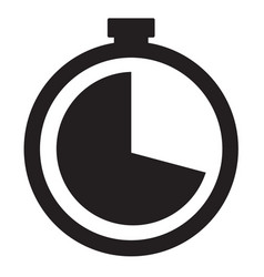 Watch line icon vector