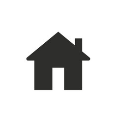 web home flat icon for apps and websites vector image