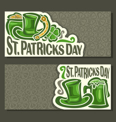 banners for st patricks day vector image vector image