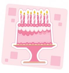 birthday cake illustration vector image vector image