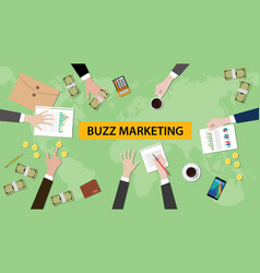 Buzz marketing discussion in a vector