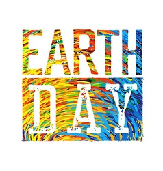 Earth Day Colorful Logotype Design vector image