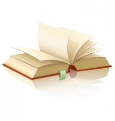 open book with empty pages vector image vector image
