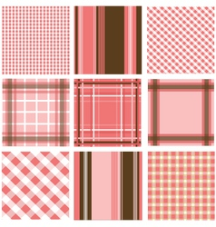 Set of plaid patterns vector image
