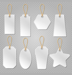 White blank price tags labels template vector image vector image