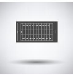 American football field mark icon vector image