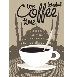coffee istanbul vector image