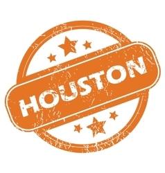 Houston round stamp vector image