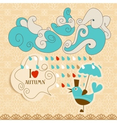 Love autumn cute vector image vector image