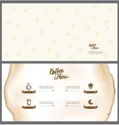 Menu for the cafe vector image