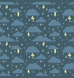 seamless pattern with stormy sky vector image