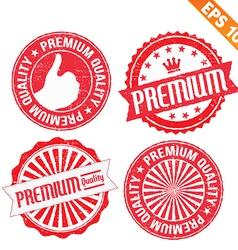 Stamp sticker Premium collection - - EPS10 vector image