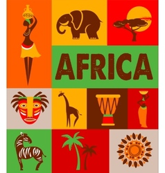 Africa - poster and background vector image vector image