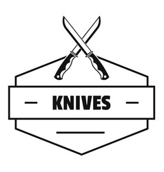 knive logo simple black style vector image