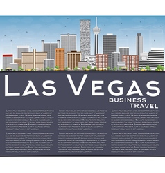 Las Vegas Skyline with Gray Buildings Blue Sky vector image vector image