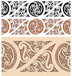 Maori styled seamless pattern vector image vector image