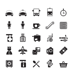 Silhouette travel and transportation icon vector image vector image