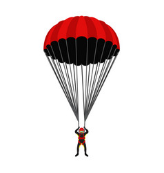 Skydiving school academy parachutist extreme vector