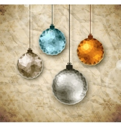 Vintage Christmas balls vector image