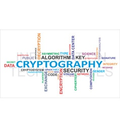 word cloud cryptography vector image